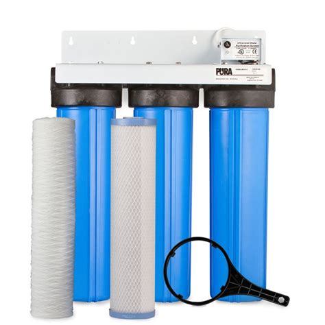 Ultraviolet Uv 16 Gpm pura pura uv bigboy series model uvbb 3 15 gpm ultraviolet water treatment system 120v