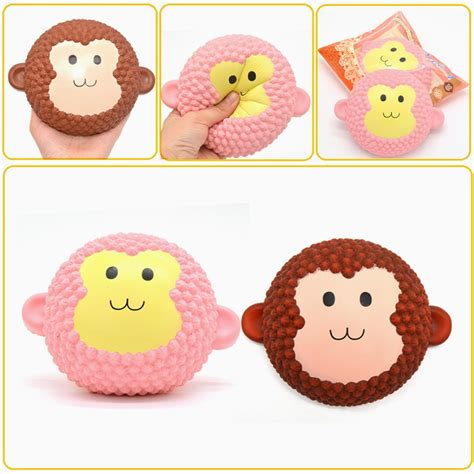 Areedy Monkey Cake Squishy areedy squishy jumbo monkey cake 15cm scented rising original packaging collection gift