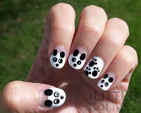 Panda Nail Design 31 day challenge day 8 black and white pandas the