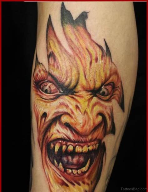 scary face tattoo designs 51 horror tattoos for leg