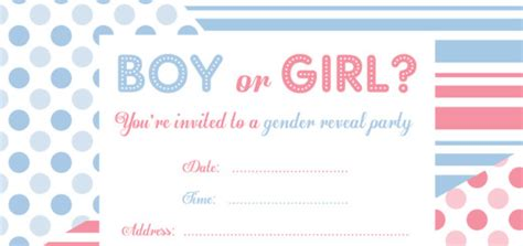 gender reveal card template free printable gender reveal invitations free