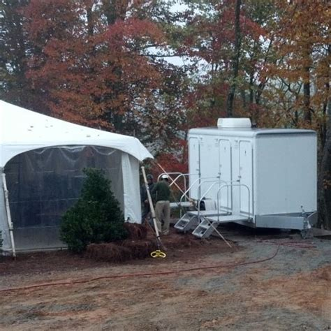 bathrooms for outdoor weddings portable wedding restroom trailer rentals