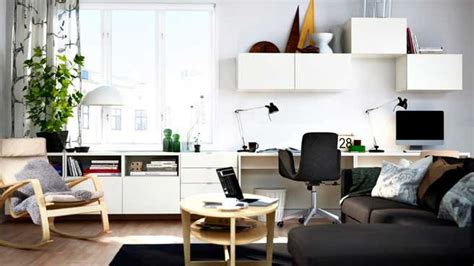 home office living room design ideas son bureau dans le salon mariekke