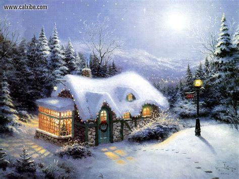 thomas kinkade christmas houses drawing painting thomas kinkade iii be home for christmas picture nr