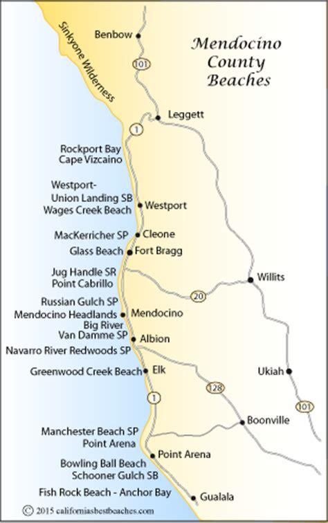 california map mendocino county mendocino county beaches mobile