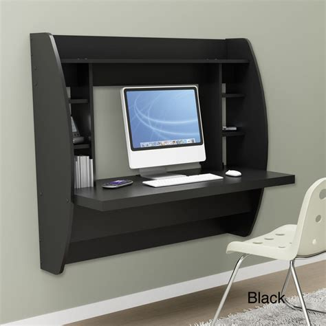 Overstock Computer Desk by Floating Desk With Storage Desks And