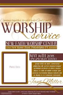 Free Church Templates For Flyers by Worship Service Template Postermywall