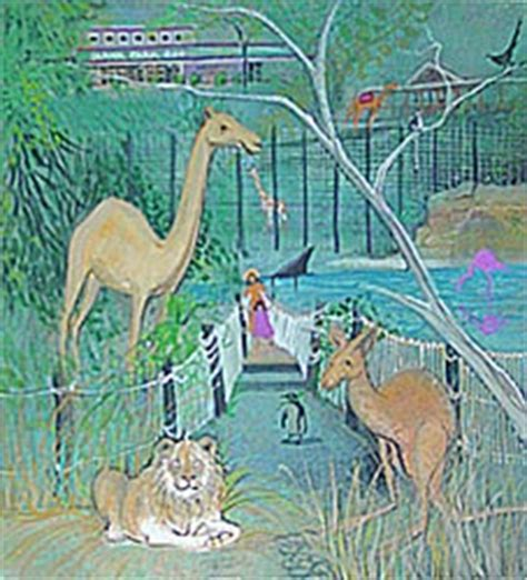 painting zoo the of p buckley moss