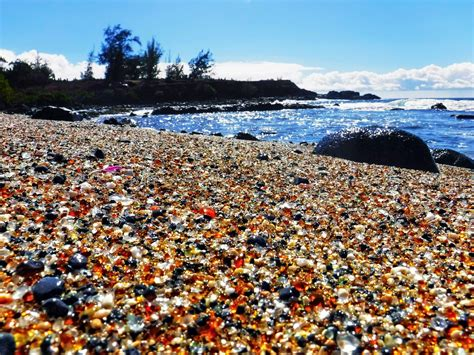 glass beach the beach in hawaii made entirely out of sea glass