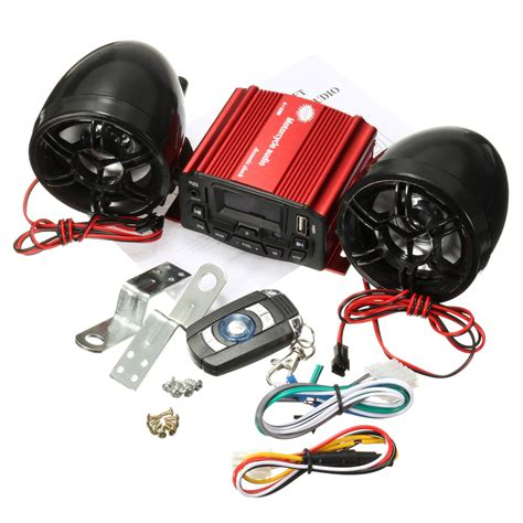 Honda Motorrad Radio by 12v Audio Remote Sound System Motorcycle Speaker