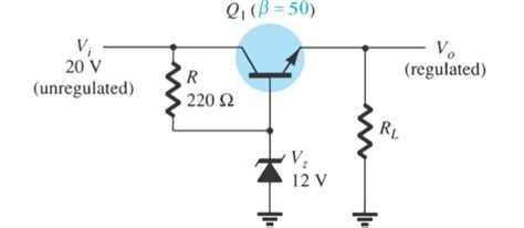 transistor zener regulator zener transistor series regulator electrical engineering stack exchange