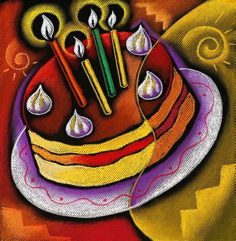 Birthday Cake Painting By Zernitsky