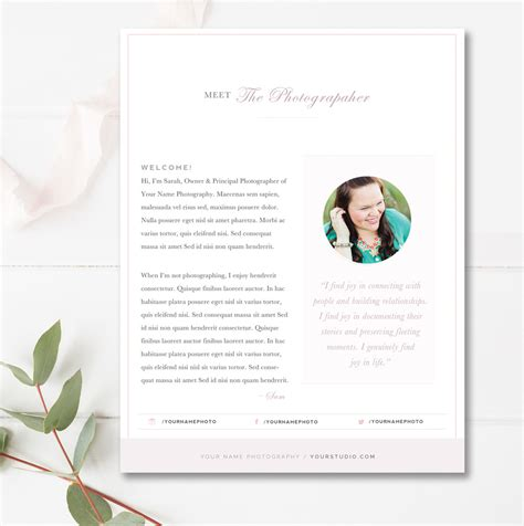 about me page template about me page template for photographers by design