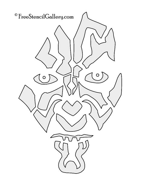darth maul template darth maul pumpkin stencil www imgkid the image