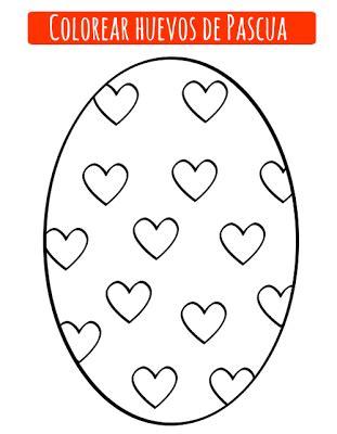 imagenes para pintar huevos de pascua dibujos de huevo de pascua para imprimir y colorear