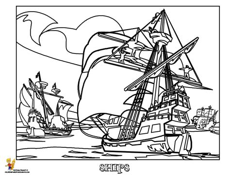 pirate pirate ships coloring pages