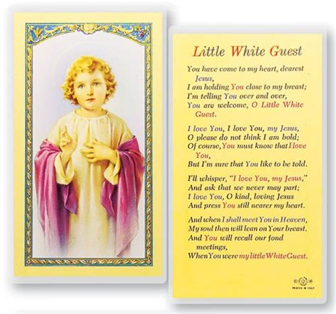 catholic prayer card templates white guest child laminated prayer cards 25 pack