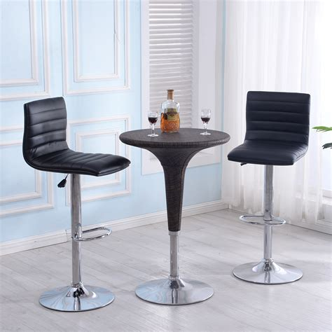 picture of modern leather swivel bar stool with back modern set of 2 bar stools leather adjustable swivel pub