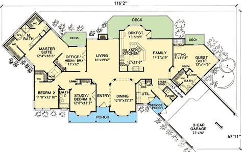 house plans with in suites house plan with in suite 3067d
