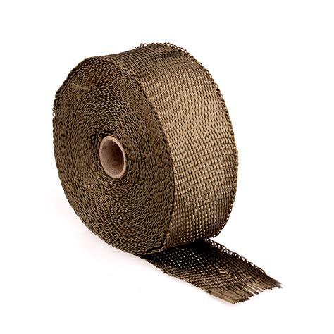 Wrap Uk 25 Cm X 50 Meter Grosir wholesale 10m basalt titanium heat wrap exhaust manifold 10 stainless steel cable ties 30cm