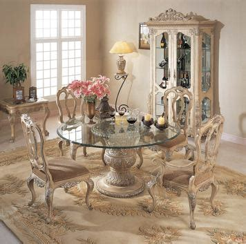 Round Pedestal End Tables Florence Round Glass Pedestal Table Dining Room Set By