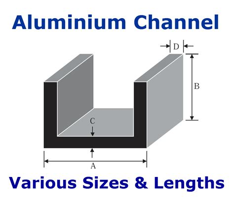 Aluminium Section Sizes by Aluminium Channel U Section C Section Various Sizes