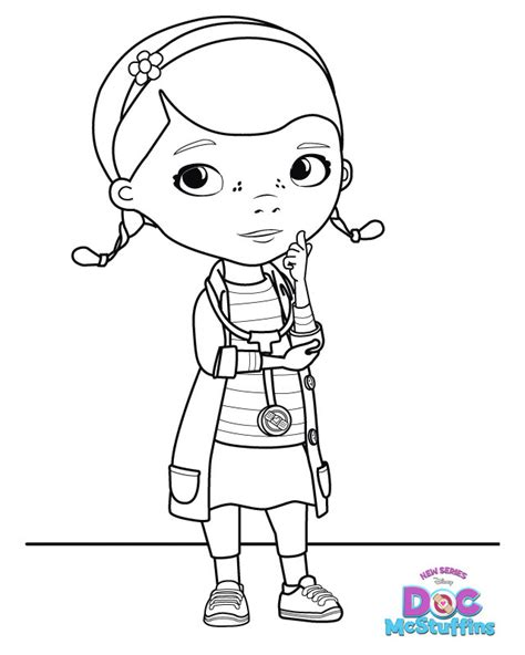 doc mcstuffins dottie free printable coloring pages
