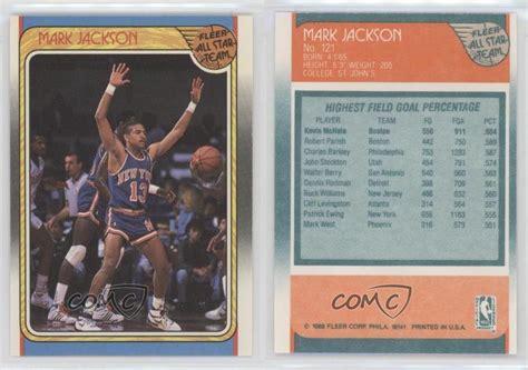 mark jackson rookie card 1988 89 fleer 121 mark jackson new york knicks rc rookie