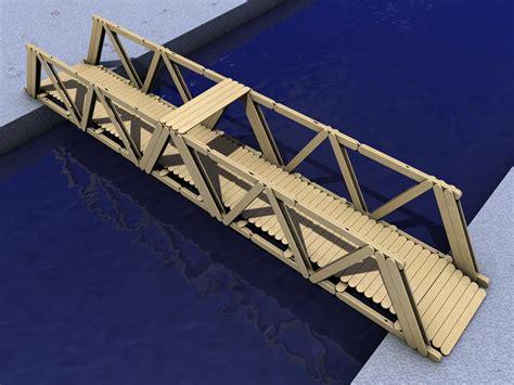 bridge pattern exles strongest popsicle stick truss bridge design the best