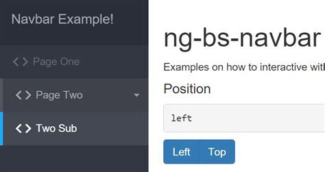 ultimate bootstrap navbar  angularjs angular script