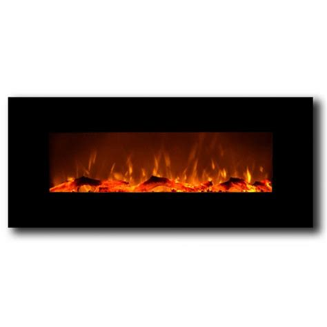 Wall Electric Fireplace Liberty 50 Inch Electric Wall Mounted Fireplace Black