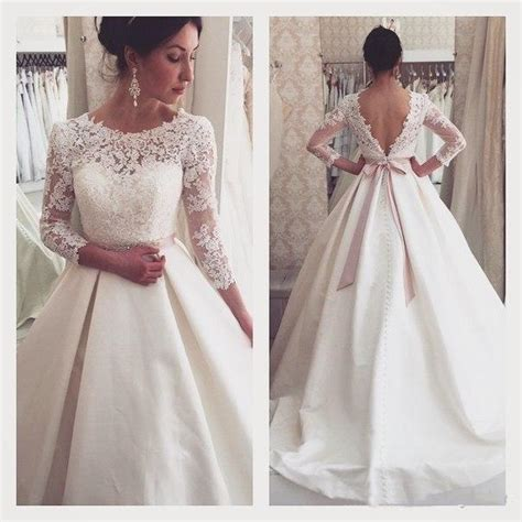 Brautkleid Vintage Langarm by Vintage Lace Winter Fall Wedding Dresses 3 4 Sleeve