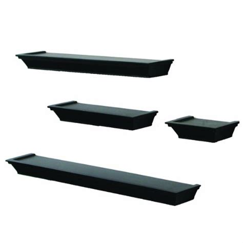 Black Decorative Wall Shelves New 4 Decorative Display Floating Wall Shelf Ledge