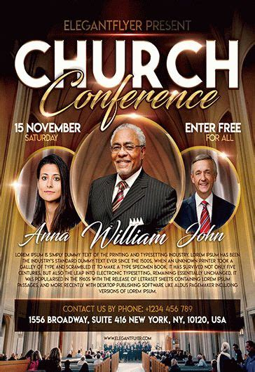 Church Conference Free Flyer Psd Template By Elegantflyer Church Conference Poster Template