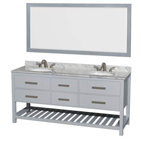 Accmilan 72 Inch Wall Mounted Double Sink Bathroom Vanity 72 In Bathroom Vanity Sink