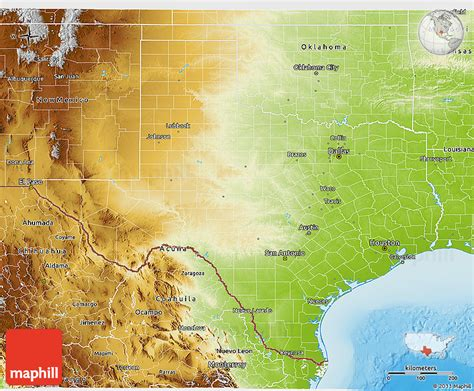 physical map texas physical 3d map of texas
