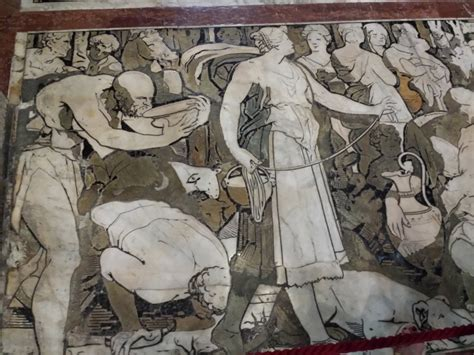 cattedrale di siena pavimento siena il pavimento duomo di siena guida turistica