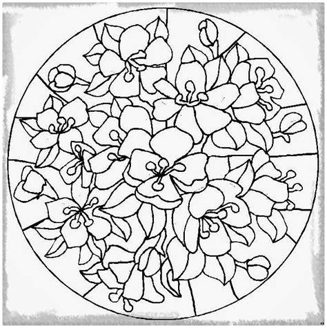 imagenes de flores sin pintar mandalas de flores para imprimir y pintar dibujos de