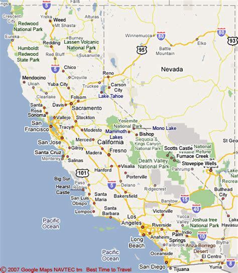 california map for tourist california map tourist attractions toursmaps
