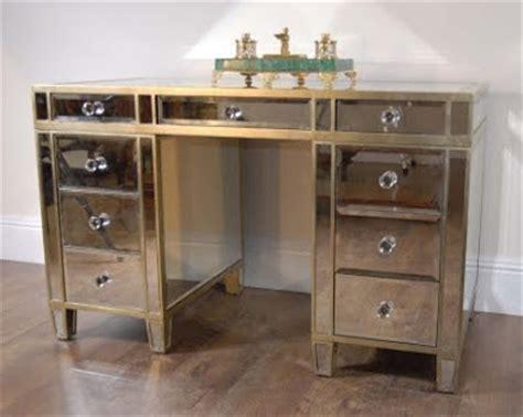diy mirrored desk copy cat chic mirrored desk