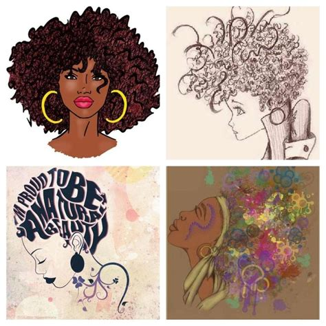 natural hairstyles cartoon 1000 images about wall art on pinterest