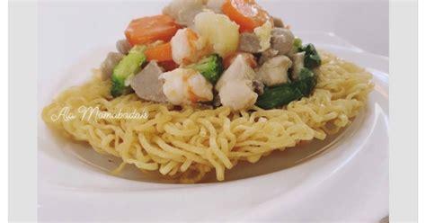 resep mie ayam cina enak  sederhana cookpad