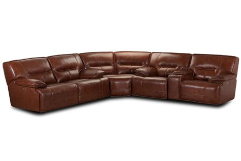 Power Recliner Sectional by Leather Power Reclining Sectional