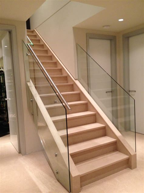 glass banister rails interior railings modern perfect staircase railings