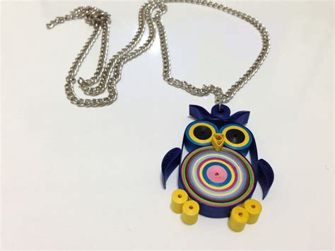 quilling jewellery tutorial for beginners paper quilling necklace quilled owl necklace for