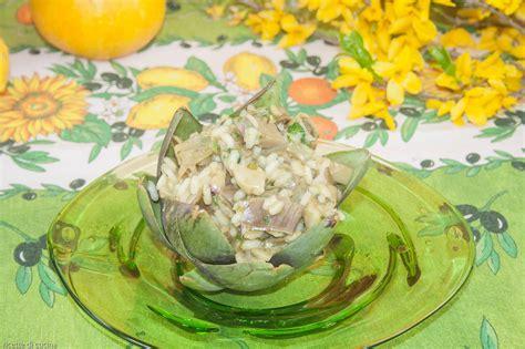 cucinare risotto risotto coi carciofi ricette di cucina