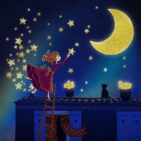 imagenes vintage de buenas noches estrellas luna y buenas noches books tales