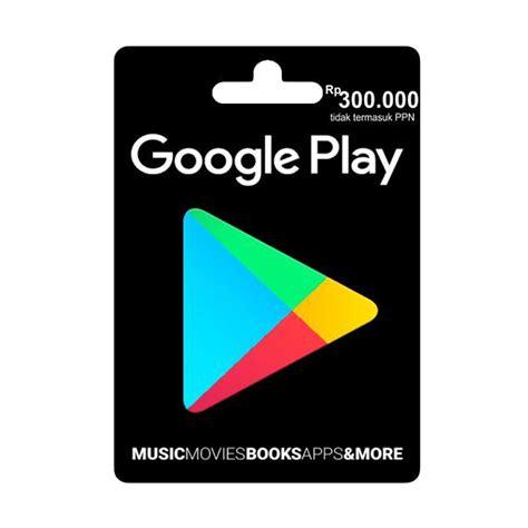 jual play gift card idr 300 000 harga