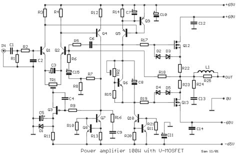 transistor vs mosfet lifier how to build power 100w with v mosfet circuit diagram