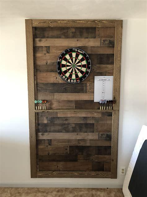 dart board wall paneling   wood trim  wood